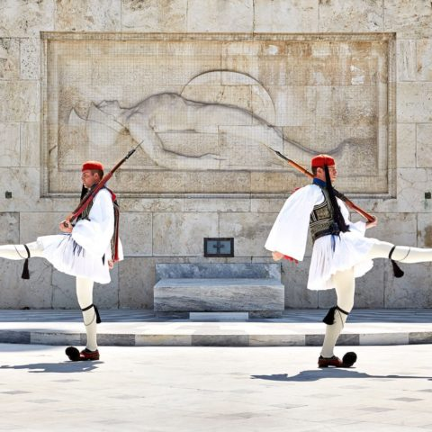 Syntagma Square Changing of the guards taxi athens